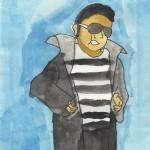 Watercolor painting of Elvis
