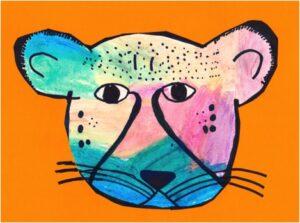 Neon Cheetah by Yareni, age 10
