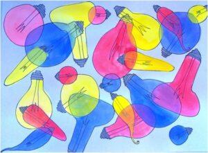 Overlapping Glassware
