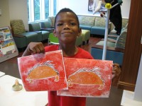 Jahlani with his porcupine print