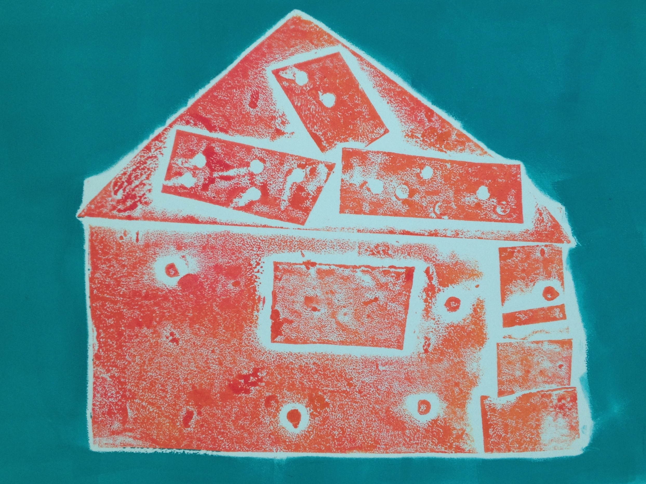 House Collograph by Brooklin, age 9