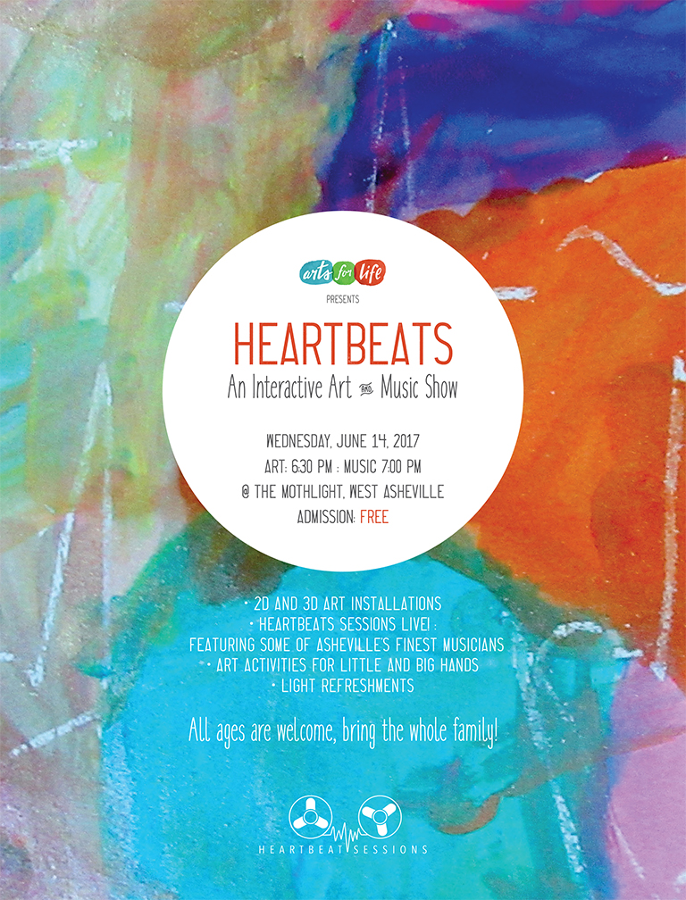 Arts For Life Heartbeats Flier WEB